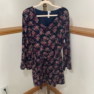 NWT Pink Owl Long Sleeve Floral Dress